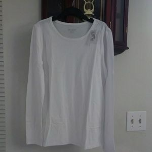 Girls white long sleeve t-shirt